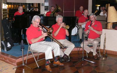 Bob Schulz Frisco Jazz Band aboard the ms Maasdam, Holland America Cruise Line
