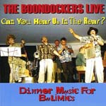 Album front cover: The Boondockers Live - Can you hear us in the rear?